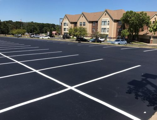 Another sunny weekend, another beautiful parking lot… Today our WV crew completed asphalt sealing and line painting for this lot in Morgantown! #LetsGoMountaineers