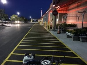 Home Depot fire lane