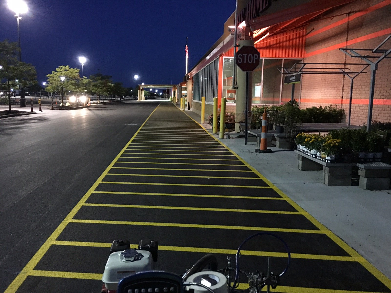 Home Depot fire lane