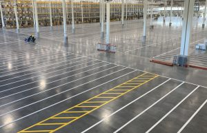 Warehouse line painting contractor |  5S Safety floor striping company